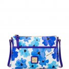 Dooney & Bourke Ginger Pouchette Crossbody Handbag Purse Blue Blooms