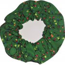 Holiday Lights Christmas Holiday Green Fabric Hair Scrunchie Ties Scrunchies by Sherry