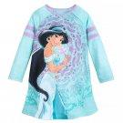 Disney Store Jasmine Girls Long Sleeve Nightshirt Blue Size 5/6 New 2019