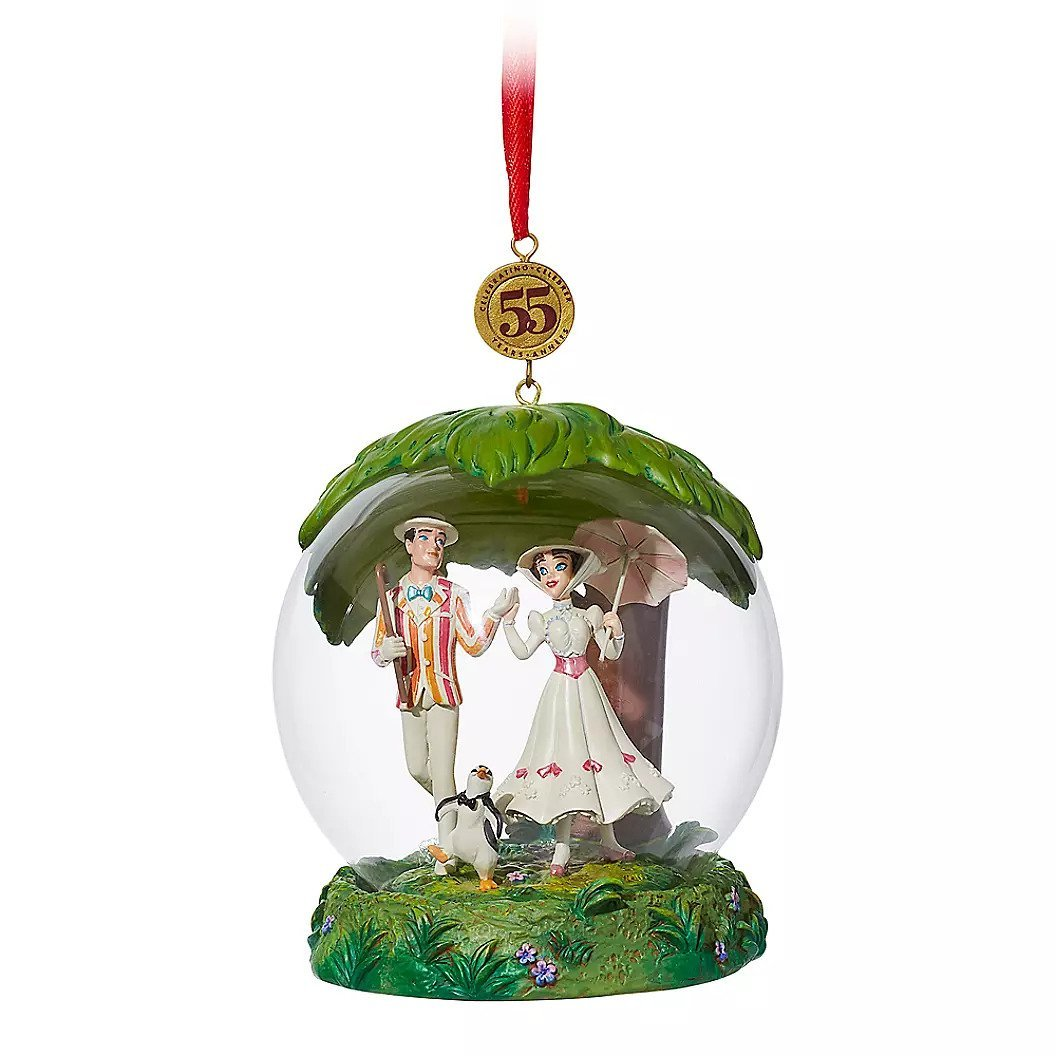 Disney Store Mary Poppins Glass Dome Legacy Sketchbook Ornament – Limited Release2019