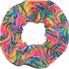Rainbow Lollipops Fabric Hair Scrunchie Scrunchies by Sherry