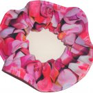Valentines Pink Conversation Hearts Fabric Hair Scrunchies Photo Fabric
