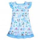 Disney Store Cinderella Nightshirt Girls Blue Size 4 2020