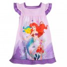 Disney Store Ariel Nightshirt Princess The Little Mermaid Purple Size 7/8 New 2020