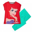 Disney Store Ariel Sleep Set Pajamas Princess Green 2020 Size 5