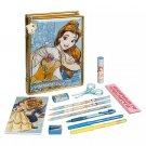 Disney Store Beauty and the Beast Zip-Up Stationery Art Case Stationary Belle 2020