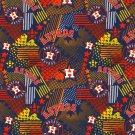 Houston Astros Fabric Hair Ties Scrunchies by Sherry MLB Baseball