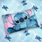 Disney Stitch Full Sheet Flat Fitted Pillowcase 3 Piece NEW