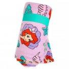 Disney Store Princess Ariel Little Mermaid Purple Fleece Throw Blanket 2020