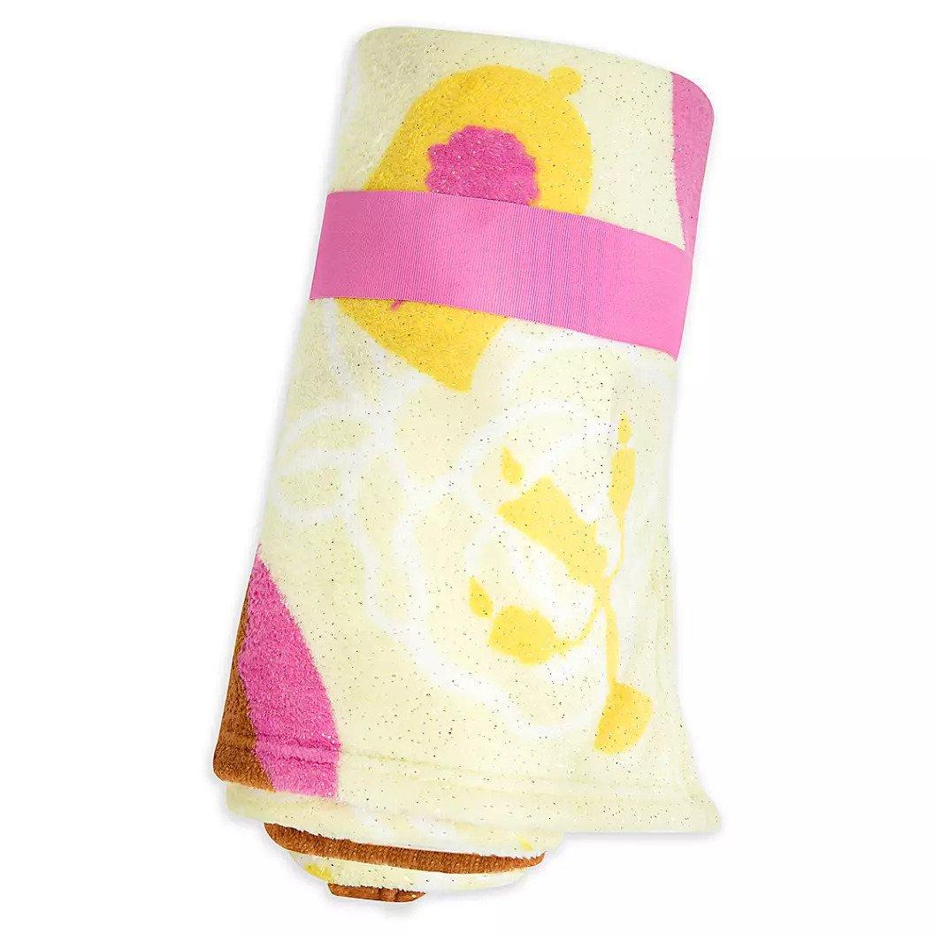 Disney Store Princess Belle Yellow Fleece Throw Blanket 2020