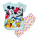 Disney Store Mickey Mouse and Friends Sleep Set for Girls Size 3