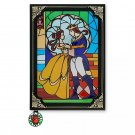 Disney Store Beauty and the Beast Stained Glass Window Replica Journal 2021