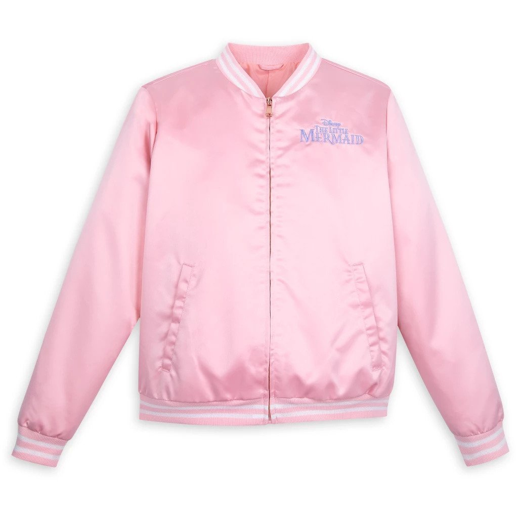 Disney Store Ariel Satin Varsity Jacket for Women The Little Mermaid 2021