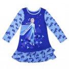 Disney Store Elsa Nightshirt for Girls Frozen 2 Sleepwear Girls Blue 2021