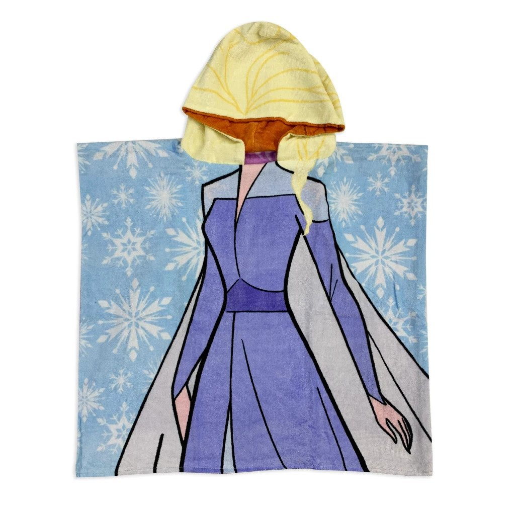 Disney Store Anna and Elsa Reversible Hooded Towel � Frozen 2 2021