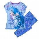 Disney Store Frozen Pj Pals Elsa Piece Pajamas Blue Size 4 5 6 7 2020