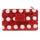 Minnie Mouse Bow Sequin Wallet by Loungefly 2021