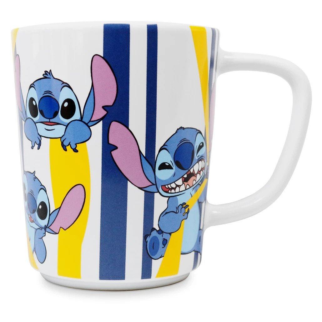 Disney Store Stitch Striped Mug New 2021