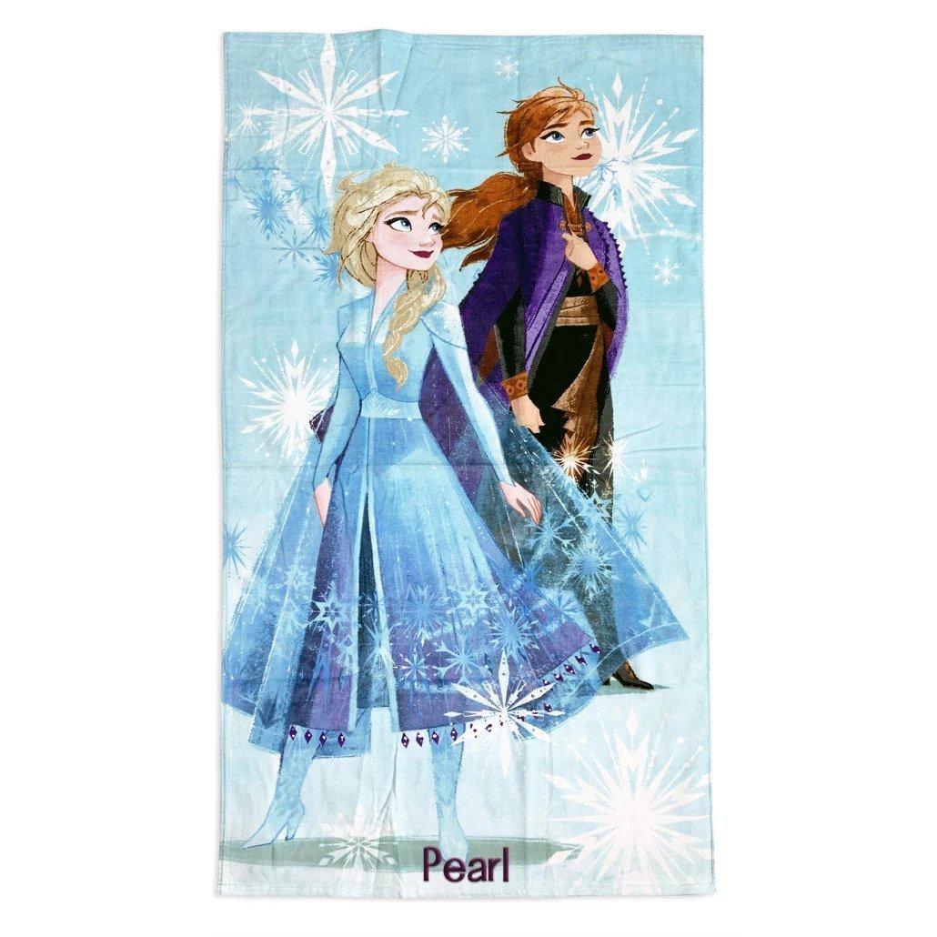 Disney Store Frozen 2 Elsa Anna Beach Towel 2021