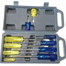 NEW CRESCENT 10 PIECE MAGNETIC TIP TRADE SCREWDRIVER SET WITH CASE