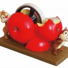 Disney Chip & Dale desk top polyresin tape dispenser cutter room decor red apple