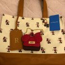 Tokyo Disneyland Hotel Guest Exclusive Mickey Tote Bag Luggage tag charm NEW
