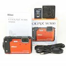Nikon COOLPIX W300 OR Orange Waterproof Digital Camera Wi-Fi 2017 Japan USED