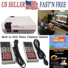 600 Games Classic Retro TV AVI Game Console + 2 Controller Kid Christmas Gifts