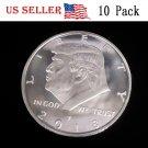 10PC US President Donald Trump Inaugural Silver Eagle Commemorative Novelty Coin