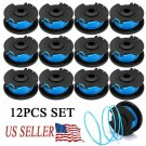 12PACK String Trimmer Replacement Spool Compatible With Ryobi One + AC14RL3A OEM