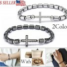 Women Men Unisex Stainless Steel Virgin Mary Cross Bracelet Chain Heart Prayer