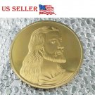 1 PC Jesus The Last Supper Commemorative Art Collection Coin Gold Plated