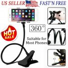 Universal 360° Clip Mobile Phone Holder Desktop Bed Lazy Bracket Mount Stand