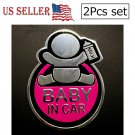 Baby In Car 3D Metal Car Emblem Badge Car Styling Motorcycle Sticker Decal