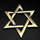 Hexagramm Star 3D Metal Car Emblem David Auto Badge Motorcycle Car Sticker Decal