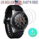 4PACKS 9H Tempered Glass Screen Protector Cover for Galaxy Watch 46mm/Gear S3