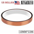 10mm*33m Heat resistant tapes sublimation Press Transfer Thermal Tape Gold