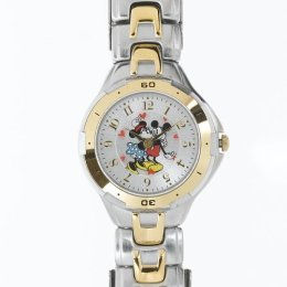 Disney Mickey & Minnie Mouse 2-Tone Bracelet Watch, MU2049, Seiko Brand, SPECIAL, Rotating Hearts