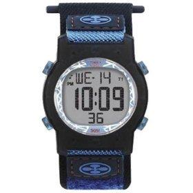 Timex T75581 Children's Blue with Orange Accent Resin Case Digital Sport Watch