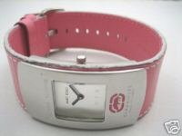 Marc Ecko Leather ID Woman Analog Pink Watch E65003G6