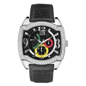 Marc Ecko Black Leather Strap Watch - E16519G2
