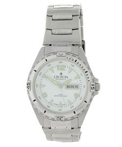 CA301118SSDW Croton Men's White Dial Stainless Steel Watch
