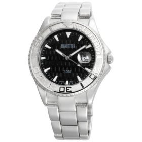 Manahattan by Croton Mens Black Dial / Bracelet Watch CM304143SLBK