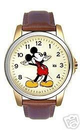 Disney Unisex Leather Band Hands Watch MU0942