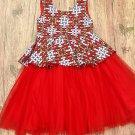 African wax print kids tulle ball dress