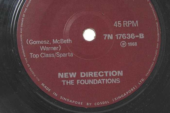 """THE FOUNDATIONS New Direction SINGAPORE 7"""" 45 RPM"""