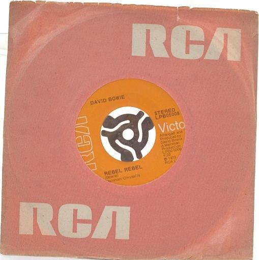 """DAVID BOWIE Queen Bit*ch / Rebel Rebel RCA 1973 7"""""""