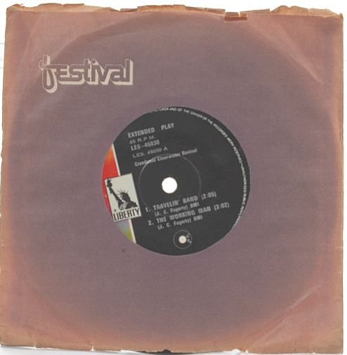 """CREEDENCE CLEARWATER REVIVAL Travelin' Band 7"""" EP"""