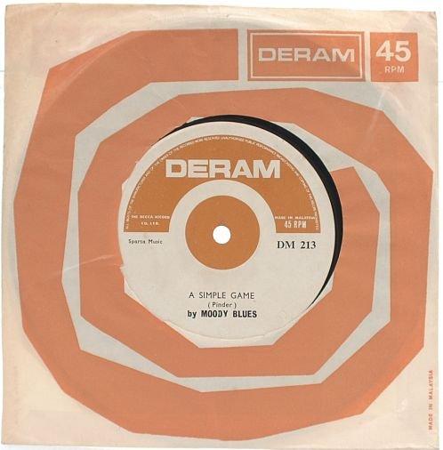 "MOODY BLUES Ride My See-Saw MALAYSIA 7"" DERAM 45 RPM"