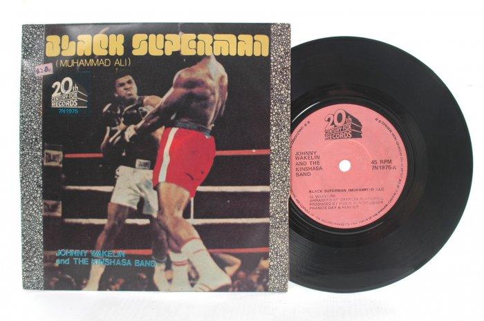 "BLACK SUPERMAN Muhammad Ali INTERNATIONAL 7"" PS"